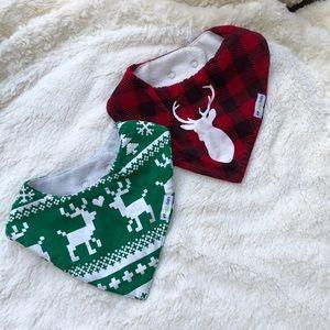 BOGO Christmas/ Holiday Bibs (set of 2)